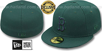 Red Sox 'QS UNDER PLAID' Green-Navy Fitted Hat by New Era