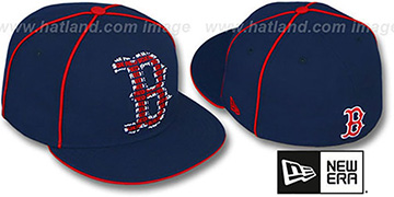 Red Sox REPEAT BIG-ONE Navy Fitted Hat by New Era