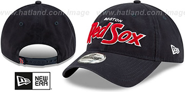 Red Sox RETRO-SCRIPT SNAPBACK Navy Hat by New Era