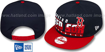 Red Sox SLICE-N-DICE SNAPBACK Navy-Red Hat by New Era