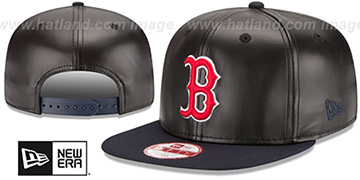 Red Sox 'SMOOTHLY STATED SNAPBACK' Black-Navy Hat by New Era