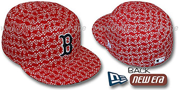 Red Sox SOX 'ALL-OVER FLOCKING'-2 Red Fitted Hat by New Era