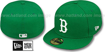 Red Sox 'St Patricks Day-2' Green-White Fitted Hat by New Era