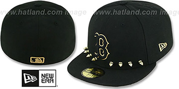 Red Sox 'STUD-POP' Black Fitted Hat by New Era