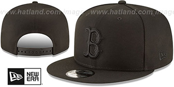 Red Sox TEAM-BASIC BLACKOUT SNAPBACK Hat by New Era