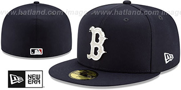 Red Sox TEAM-GEM Navy Fitted Hat by New Era