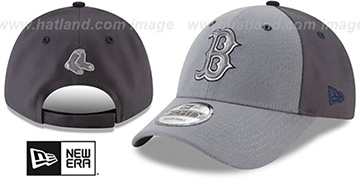 Red Sox THE-LEAGUE GREY-POP STRAPBACK Hat by New Era