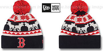 Red Sox 'THE-MOOSER' Knit Beanie Hat by New Era