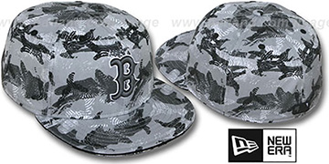 Red Sox 'THUMBPRINT' Grey Fitted Hat by New Era