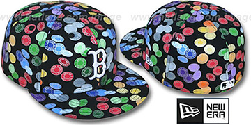 Red Sox 'TOKENS' Black-Multi Fitted Hat by New Era