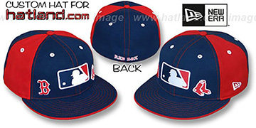 Red Sox TRIPLE THREAT Navy-Red Fitted Hat by New Era