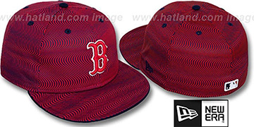 Red Sox TRIPPIN Red-Navy Fitted Hat by New Era