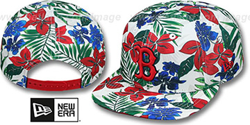 Red Sox TROPTRIP BLOOM SNAPBACK Hat by New Era