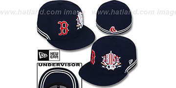 Red Sox TWO-BIT Navy-White Fitted Hat by New Era