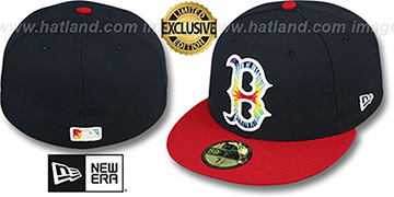 Red Sox 'TYE-DYE INSIDER' Navy-Red Fitted Hat by New Era