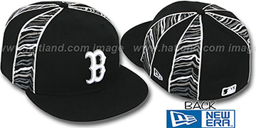 Red Sox 'URBAN JUNGLE' Black Fitted Hat by New Era