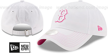 Red Sox 'WOMENS POP PREFERRED PICK STRAPBACK' White-Pink Hat by New Era