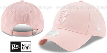 Red Sox 'WOMENS PREFERRED PICK STRAPBACK' Light Pink Hat by New Era