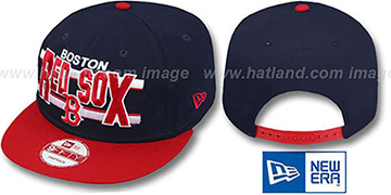 Red Sox 'WORDSTRIPE SNAPBACK' Navy-Red Hat by New Era