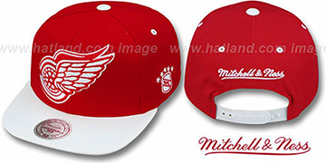 Red Wings '2T XL-LOGO SNAPBACK' Red-White Adjustable Hat by Mitchell & Ness