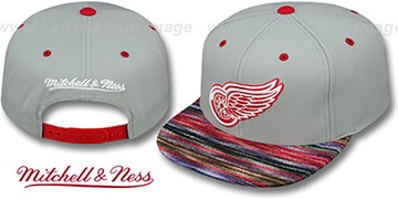 Red Wings 'KNIT-WEAVE SNAPBACK' Grey-Multi Hat by Mitchell and Ness