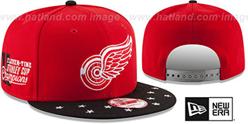 Red Wings 'NHL STAR-TRIM SNAPBACK' Red-Black Hat by New Era