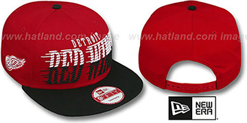 Red Wings 'SAILTIP SNAPBACK' Red-Black Hat by New Era