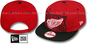 Red Wings STEP-ABOVE SNAPBACK Red-Black Hat by New Era