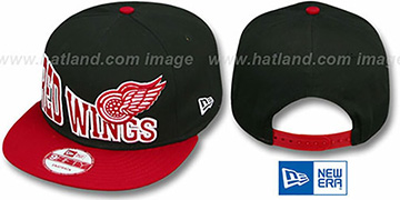Red Wings STOKED SNAPBACK Black-Red Hat by New Era