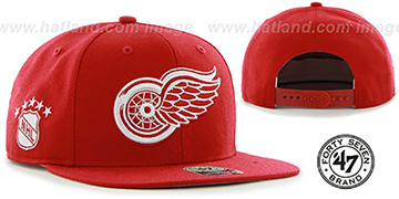 Red Wings 'SURE-SHOT SNAPBACK' Red Hat by Twins 47 Brand