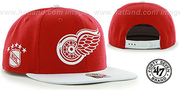 Red Wings 'SURE-SHOT SNAPBACK' Red-White Hat by Twins 47 Brand