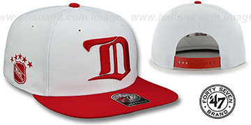 Red Wings 'SURE-SHOT SNAPBACK' White-Red Hat by Twins 47 Brand
