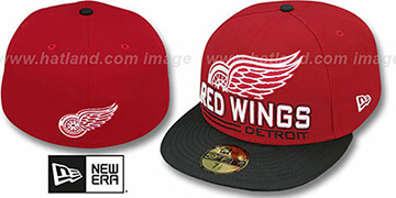 Red Wings 'TECH MARK' Red-Black Fitted Hat by New Era