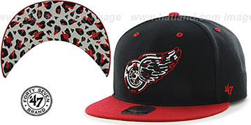 Red Wings THE-PLAINS LEOPARD SNAPBACK Hat by Twins 47 Brand