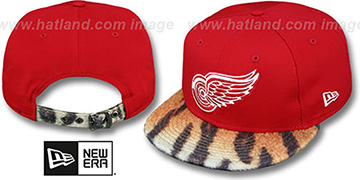 Red Wings TIGER ANIMALISTIC-FUR VIZA STRAPBACK Hat by New Era