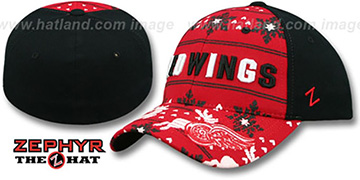 Red Wings UGLY SWEATER FLEX Black-Red Hat by Zephyr