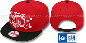 Red Wings 'WORDSTRIPE SNAPBACK' Red-Black Hat by New Era