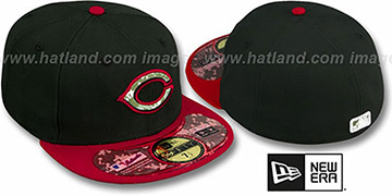 Reds '2012 STARS N STRIPES' Black-Red Hat by New Era