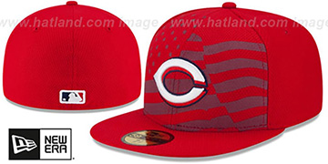 Reds 2015 JULY 4TH STARS N STRIPES Hat by New Era