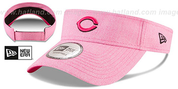 Reds 2018 MOTHERS DAY VISOR Heather Pink by New Era