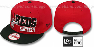 Reds '2T BORDERLINE SNAPBACK' Red-Black Hat by New Era