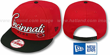 Reds 2T CHARZ SNAPBACK Red-Black Hat by New Era