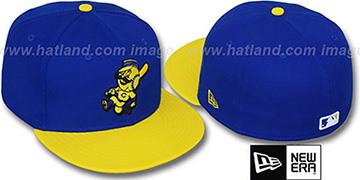 Reds '2T-FASHION ALTERNATE' Royal-Yellow Fitted Hat by New Era