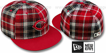 Reds '2T PLAIDZ' Red Fitted Hat by New Era