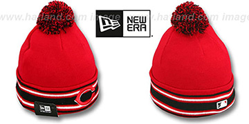Reds 'AC-ONFIELD' Red Knit Beanie Hat by New Era