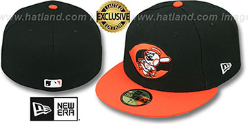 Reds ALT 2T OPPOSITE-TEAM Black-Orange Fitted Hat by New Era