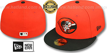 Reds ALT '2T OPPOSITE-TEAM' Orange-Black Fitted Hat by New Era