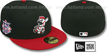 Reds 'BAYCIK' ALT Black-Red Fitted Hat by New Era