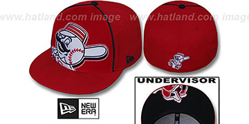 Reds BIG-UNDER Red Fitted Hat by New Era