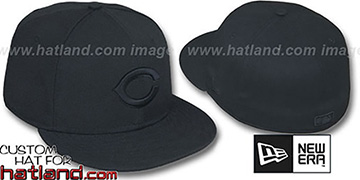 Reds BLACKOUT Fitted Hat by New Era